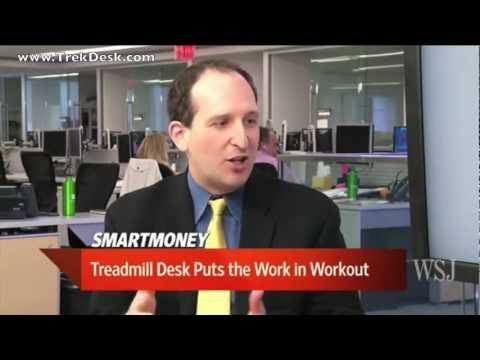 I Workout at Work with a TrekDesk Treadmill Desk