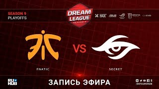 Fnatic vs Secret, DreamLeague, game 1 [Lex, LighTofHeaveN]