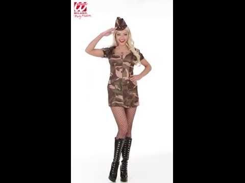 Deguisement militaire Femme-v29600
