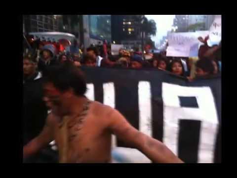 Manifestação indigena