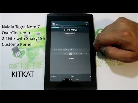 OverClock your CPU to 2.1Ghz on the Nvidia Tegra Note 7 with a custom kernel