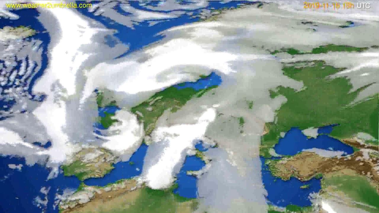Cloud forecast Europe // modelrun: 12h UTC 2019-11-14