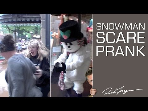 Innocent Looking Snowman Pranks Shoppers