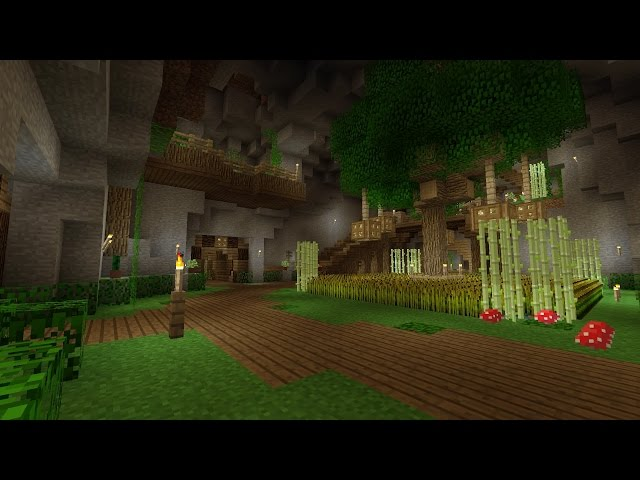 Minecraft underground base tour 2 for Classic underground house tracks