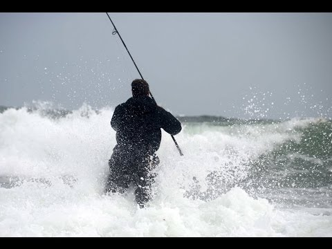 Surfcasting Montauk Point NY – October 2013 nor'easter