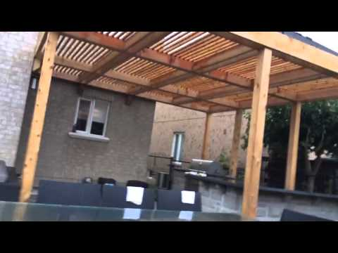Modern Cedar Screens and Pergola