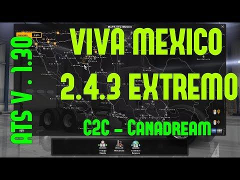 [ATS] Viva Mexico Map v2.4.3 (upd. 22.02.18) [1.30.x]