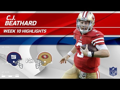 Video: C.J. Beathard Gets 303 Total Yards & 3 TDs to Help Defeat NY! | Giants vs. 49ers | Wk 10 Player HLs