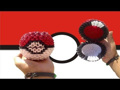 Origami 3D Pokeball (Pokemon)