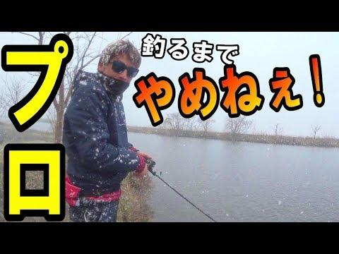 大雪の名古屋でバスプロと奇跡を起こせ!前半~バス釣り遠征5日目~
