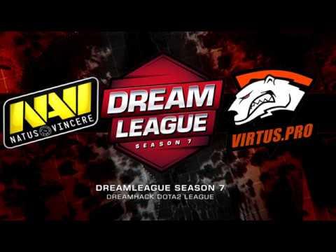 Na`Vi vs Virtus Pro/ Dota 2 highlights, Dream League 7, Dota 2 pro gaming