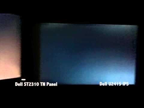 , title : 'Backlight Bleed/IPS Glow Comparison - TN Panel vs Dell U2415 IPS Panel'