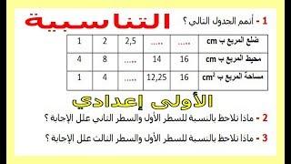 الرياضيات الأولى إعدادي - التناسبية تمرين 26