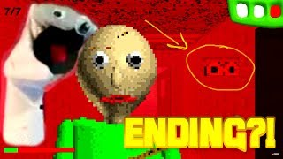 SECRET ENDING FOUND?! Baldi's Basics in Education and Learning