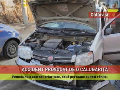 O călugarița nu a acordat prioritate de trecere și a lovit o maşină