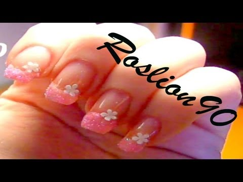 nail art - glitter tutorial