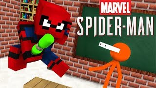 Video Monster School : STICKMAN & MARVEL'S SPIDER-MAN BOTTLE FLIP CHALLENGE - Minecraft Animation MP3, 3GP, MP4, WEBM, AVI, FLV Oktober 2018