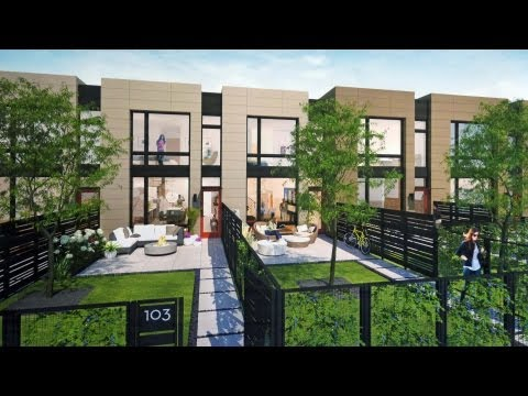 Innovative rowhomes at Backyard Andersonville