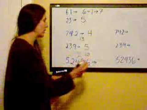 Vedic Math Digit Sums & Casting Out the Nines