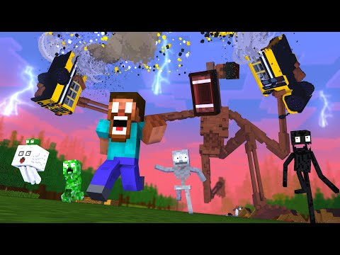 Monster School : SIREN HEAD RIP WITHER PART 2 GIANT APOCALYPSE HORROR ESCAPE - Minecraft Animation