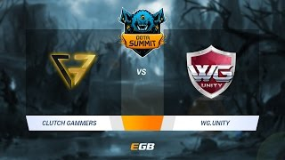 Clutch Gamers vs WG.Unity, Game 2, Dota Summit 7 SEA Qualifier