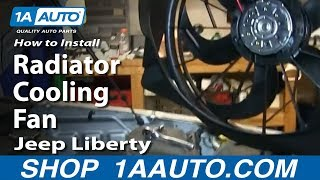 How To Install Replace Radiator Cooling Fan 2006-07 Jeep Liberty