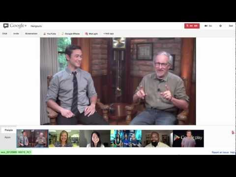 Image of Steven Spielberg and Joseph Gordon-Levitt Hangout On Air Video