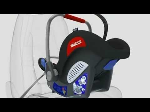 Видео Детское автокресло SPARCO F300I