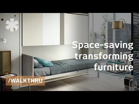 furniture - Resource Furniture sells bookshelves, couches and desks- and a combination of the above- that are so highly engineered that they gracefully transform into be...