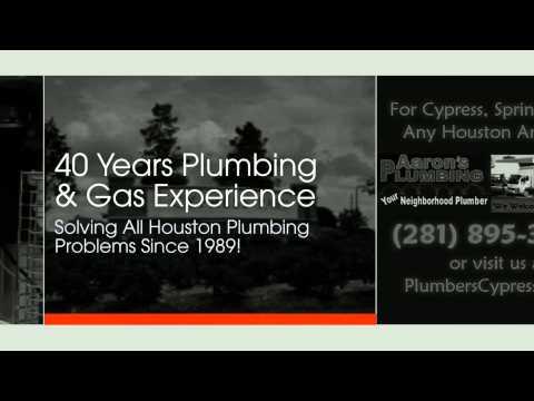 Plumbers Cypress TX (281) 895-3522 Aarons Plumbing Cypress TX - Plumber Cypress TX