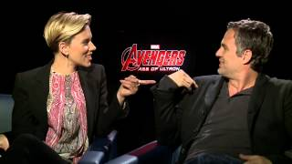 Scarlett Johansson and Mark Ruffalo talk 'Avengers: Age of Ult...