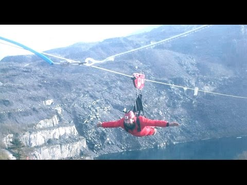 Worlds fastest zip wire
