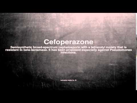 Medical vocabulary: What does Cefoperazone mean