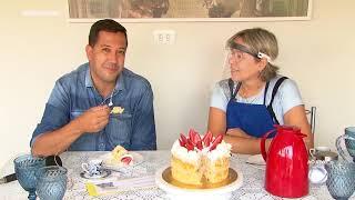 Culinarista de Marília ensina como fazer bolo de festa com frutas