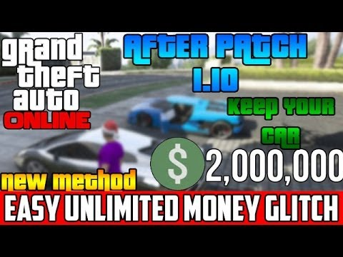 GTA 5 Online: Unlimited Money Glitch After Patch 1.10 KEEP YOUR CAR – [GTA V Unlimited Money Glitch]