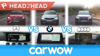 Mercedes COMAND vs BMW iDrive vs Audi MMI - in-car tech group test | Head2Head