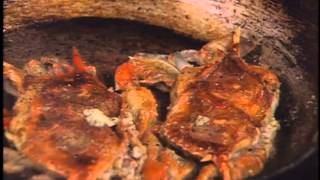 Pecan Flour–dusted Soft Shell Crab with Roasted Garlic-Tomato Butter by John Currence