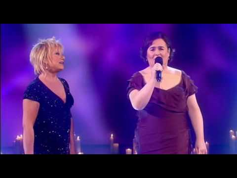 duet - Susan Boyle fulfills her dream of singing with her musical idol Elaine Paige, performing a live Duet on an ITV television show, hosted by Piers Morgan