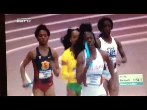 2017 NCAA Indoor Women's 4x400 Finals видео