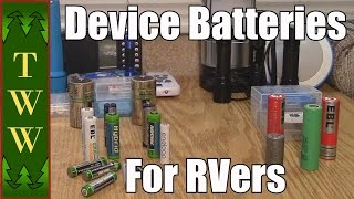 I go over the choices for the batteries you might want to consider for your battery powered devices. I also talk about pairing the device to the proper battery type.  I mainly talk about Alkaline, Ni-Mh and Li-ion batteries.