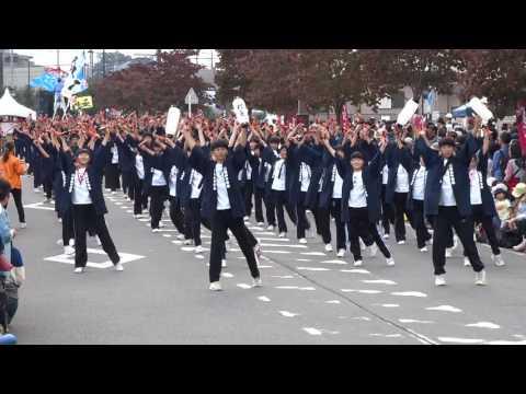 川越砂中学校 樫童/第?会場/第11回つるせよさこい祭り 2016