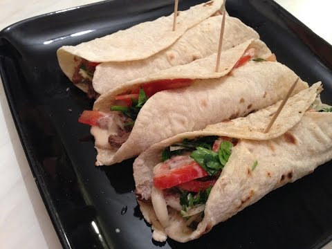 Lebanese Beef Shawarma wrap - شاورما اللحمة المتبلة (easy recipe)