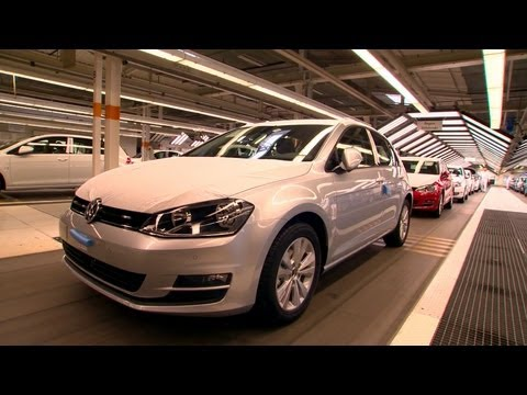 Production - Footage of VW Golf production at the Wolfsburg plant. Watch all VW Golfs, from Mk1 to Mk 6, being built: http://www.youtube.com/watch?v=R0FLhr3ywGI&feature=c...