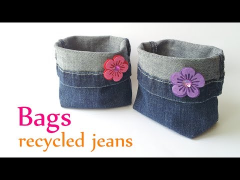 DIY crafts: BAGS recycled jeans (very EASY) –  Innova Crafts