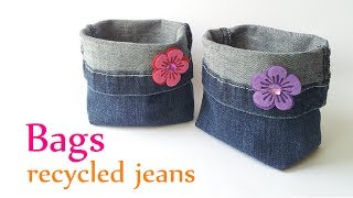 DIY crafts: BAGS recycled jeans (very EASY) - Innova Crafts - YouTube