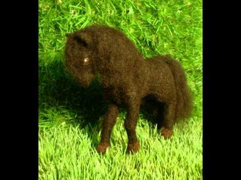schwarzer Mustang – nadel-filz-art.de – riesig, schwarzes Pferd nadelfilzen needle felting