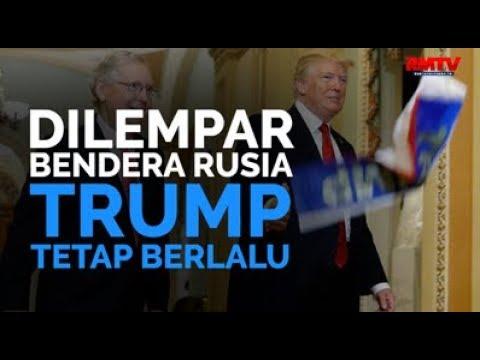 Dilempar Bendera Rusia, Trump Tetap Berlalu
