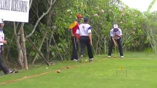 Thailand Vs LISNA PLN Gateball Competition 2013,Denpasar Bali,Indonesia
