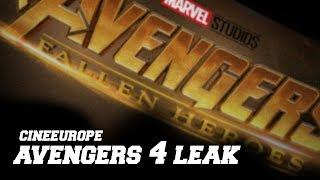 Avengers 4 Title Leak - CineEurope - Leaked Footage - Fallen Heroes