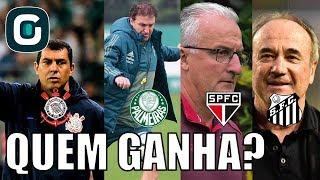 Dos grandes paulistas, quais vocês acreditam que terão mais dificuldade para vencer nesta rodada do Brasileirão? Corinthians x...